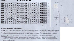 схема джемпера с короткимирукавами