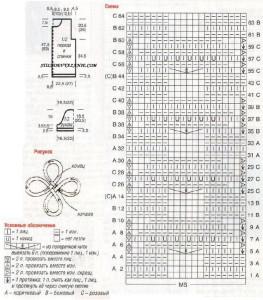 схема жакет с декоративными краями