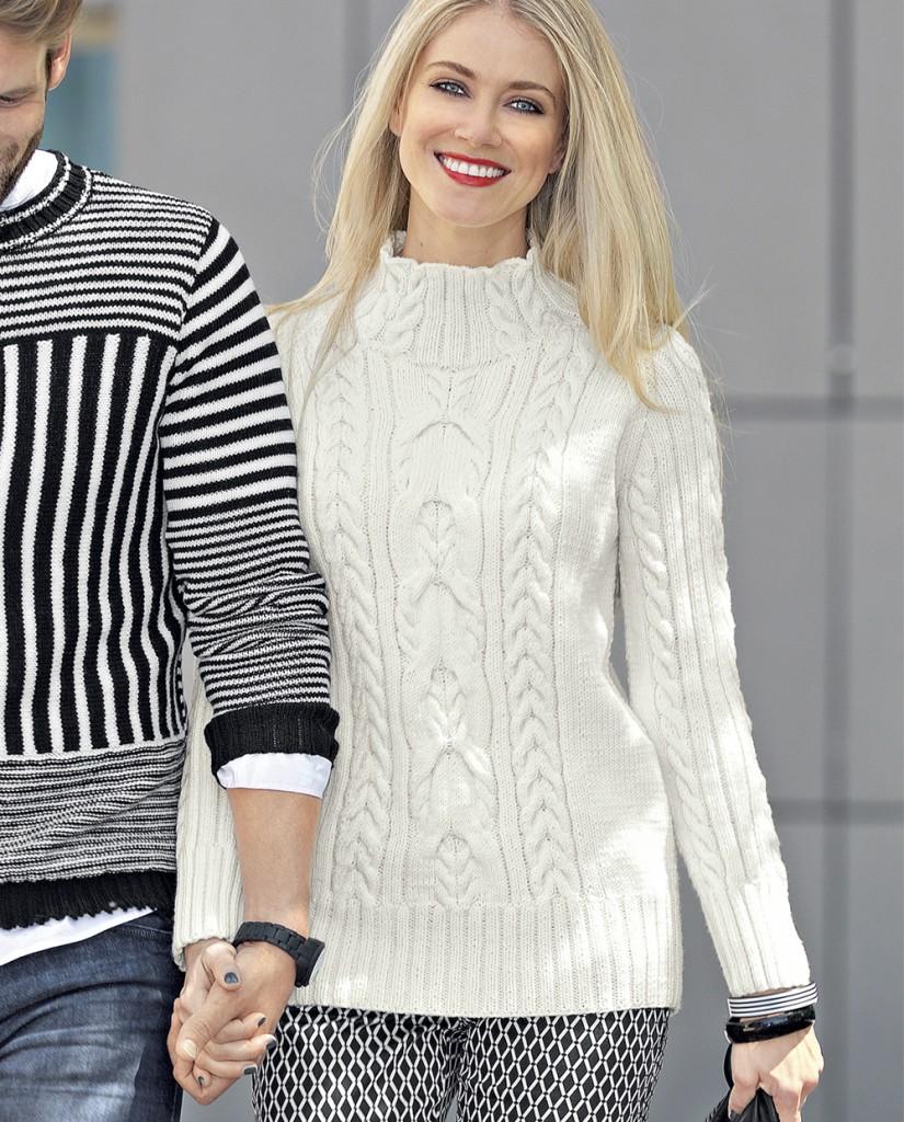Вязание аранов для пуловера 18